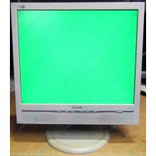 """Б/У монитор 17"""" Philips 170B с колонками и USB-хабом в Евпатории, белый (Евпатория)"""